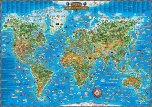 CHILDREN'S MAP OF THE WORLD (first edition)