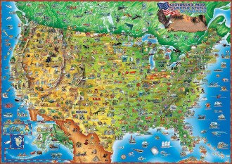 CHILDREN'S MAP OF THE UNITED STATES OF AMERICA
