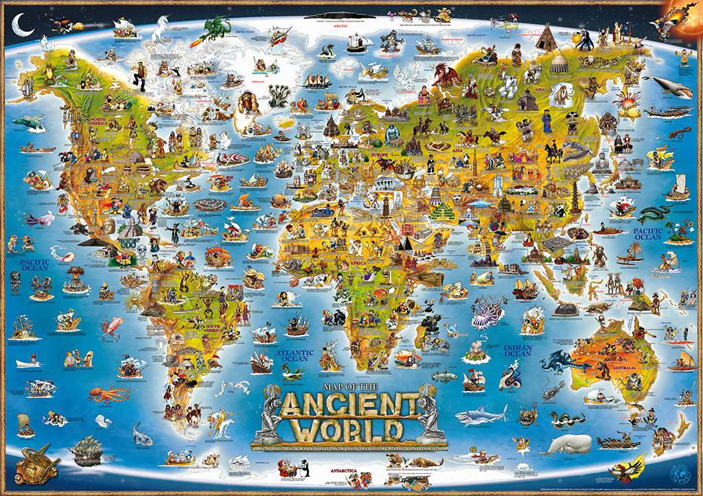 MAP OF THE ANCIENT WORLD - Dino\'s Maps