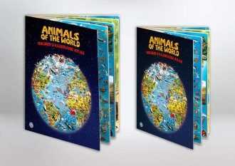 ANIMALS OF THE WORLD CHILDREN'S ILLUSTRATED ATLAS - New cover design