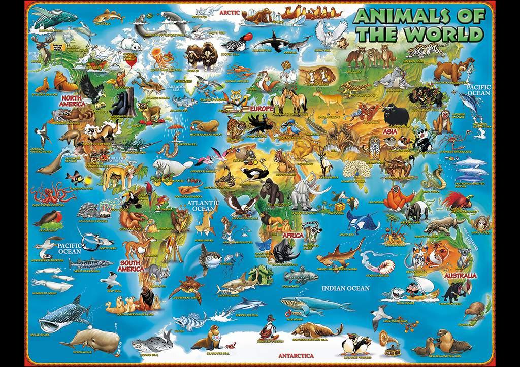 ANIMALS OF THE WORLD Dino 39 s Maps