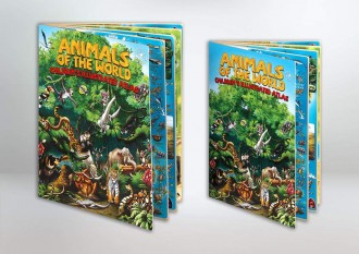 ANIMALS OF THE WORLD CHILDREN'S ILLUSTRATED ATLAS