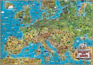 CHILDREN\'S MAP OF EUROPE - Dino\'s Maps