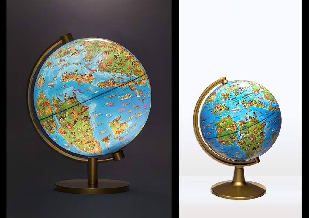 Globes dinos maps dinos illustrated world globe dinos prehistoric globe gumiabroncs Images