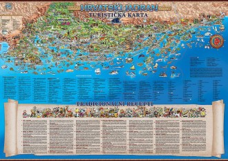 THE ADRIATIC COAST OF CROATIA - A TOURIST MAP