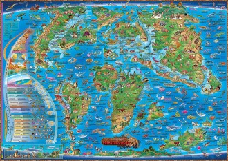ILLUSTRATED MAP OF THE PREHISTORIC WORLD