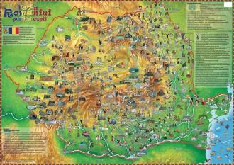 HARTA ROMANIEI PENTRU COPII (CHILDREN'S MAP OF ROMANIA)