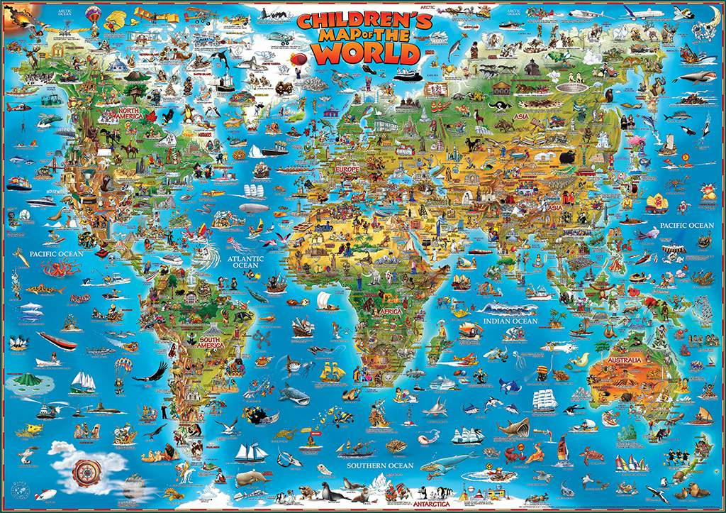 Home dinos maps childrens map of the world gumiabroncs Image collections