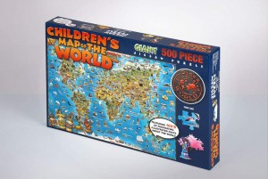 JIGSAW PUZZLE 500 PIECE - CHILDREN'S MAP OF THE WORLD