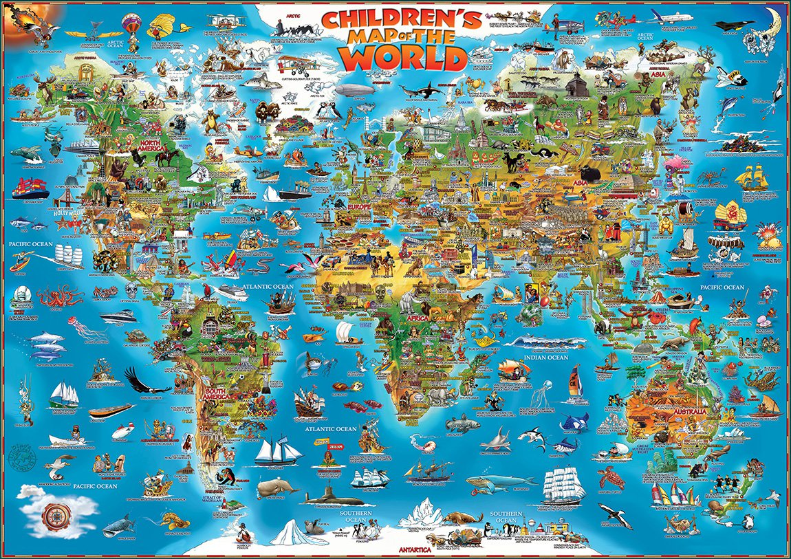 CHILDREN'S MAP OF THE WORLD & ANCIENT WORLD   FRONT ~ NEW PRODUCT