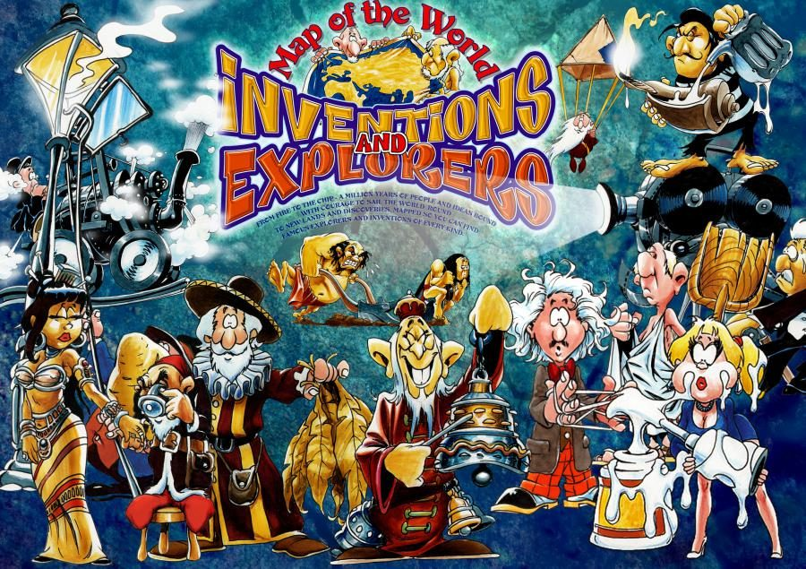 INVENTIONS AND EXPLORERS COLLAGE