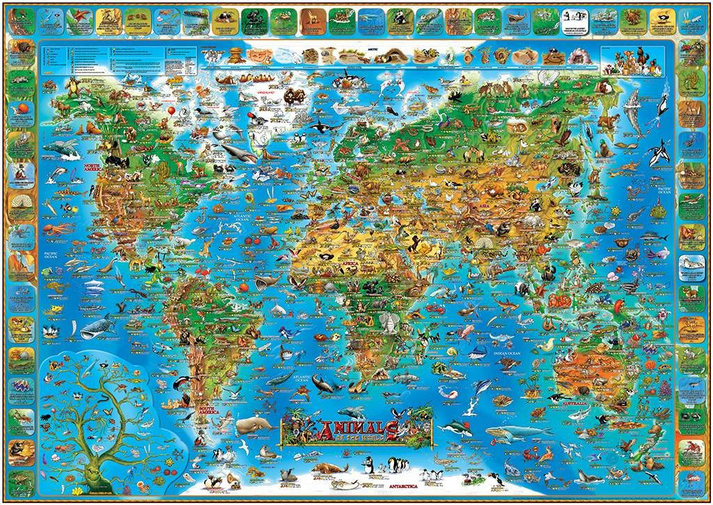 QUIZ ANIMAL MAP54 questions and answers