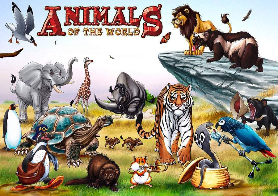 ANIMALS OF THE WORLD COLLAGE