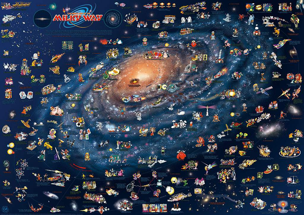 Map Of Milky Way CHILDREN'S MAP OF THE MILKY WAY   Dino's Maps Map Of Milky Way