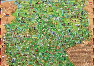 DEUTSCHLANDKARTE FÜR KINDER (CHILDREN'S MAP OF GERMANY)