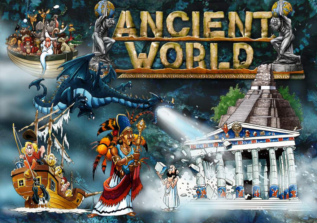 MAP OF THE ANCIENT WORLD COLLAGE