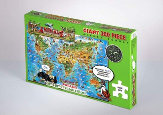 JIGSAW PUZZLE 300 PIECE - ANIMALS OF THE WORLD