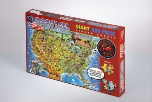 JIGSAW PUZZLE 500 PIECE - CHILDREN'S MAP OF THE UNITED STATES OF AMERICA