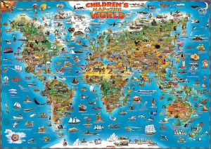 CHILDREN'S MAP OF THE WORLD & ANCIENT WORLD