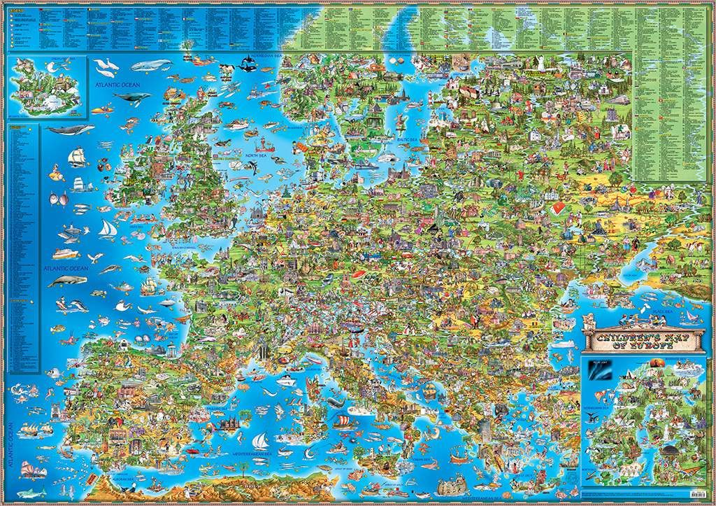 CHILDREN'S MAP OF EUROPE (first edition)