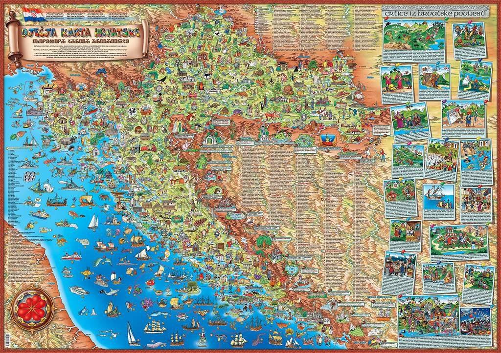 DJEČJA KARTA HRVATSKE (CHILDREN'S MAP OF CROATIA)